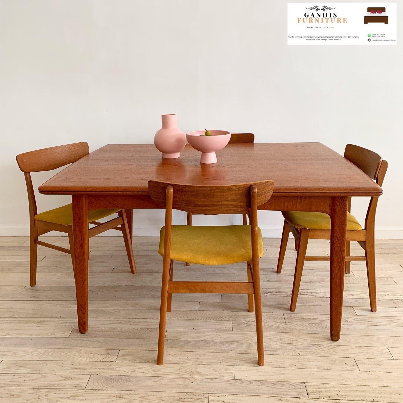 Meja Makan Minimalis Kayu Jati Model Cafe Terbaru 2020 Harga Terjangkau Gandis Furniture Jepara