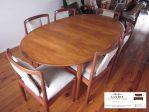meja makan minimalis meja oval 6 kursi