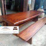 meja kayu trembesi modern model terbaru
