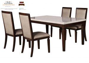 meja makan minimalis marmer 4 kursi