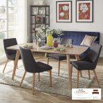 meja makan minimalis modern 4 kursi