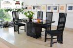 meja makan top marmer alami mewah 4 kursi
