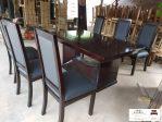 Meja makan modern minimalis kayu jati mewah