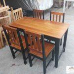 Meja makan kayu minimalis asli jati jepara