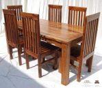 meja makan balero minimalis kayu jati 6 kursi
