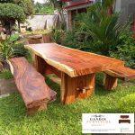 Meja kayu trembesi jepara minimalis