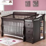 tempat tidur bayi minimalis kayu jati