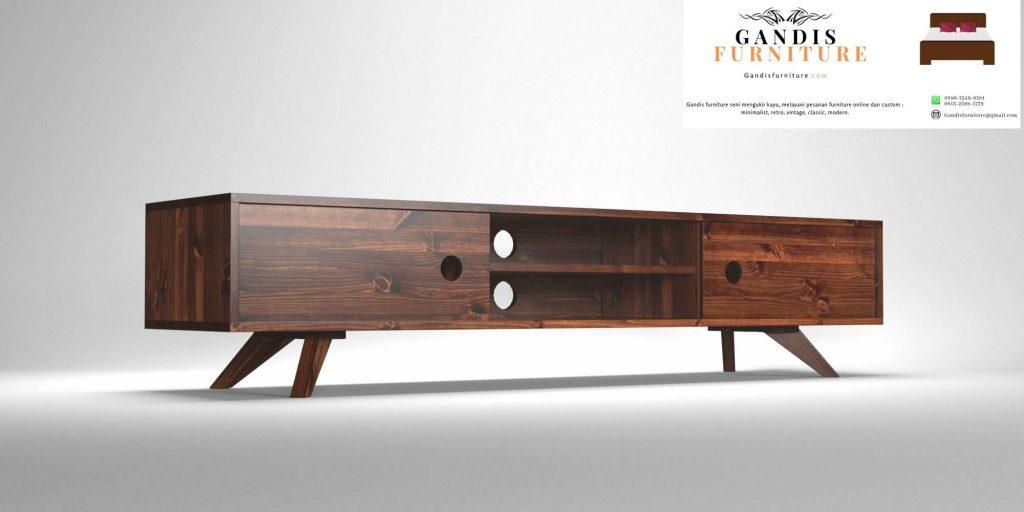 meja tv kayu model minimalis modern