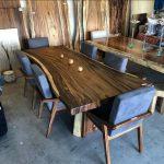 meja makan kayu trembesi jepara modern minimalis