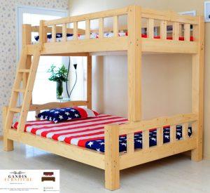 tempat tidur tingkat minimalis kayu