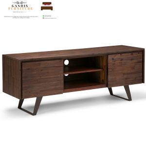 Meja tv minimalis kayu jati modern murah