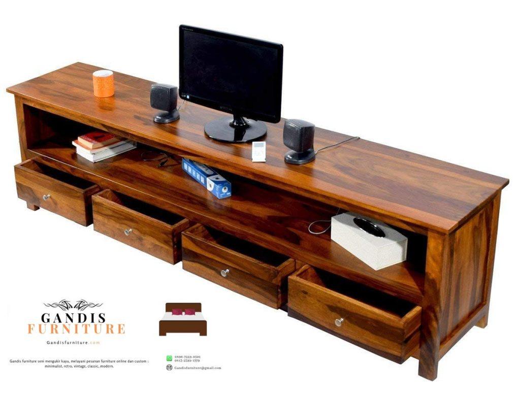 meja tv kayu minimalis murah