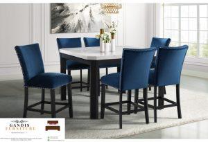 meja makan minimalis kayu kombinasi marmer