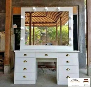meja rias lampu minimalis duco putih