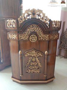 Mimbar masjid minimalis jepara kayu jati