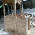 mimbar masjid jepara minimalis kayu jati