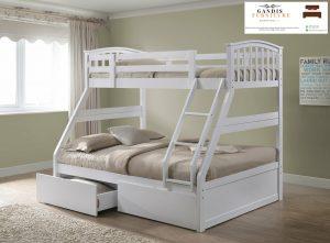 tempat tidur tingkat anak laci minimalis