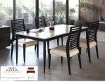 set meja makan marmer minimalis 4 kursi putih