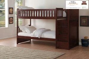 Tempat tidur tingkat minimalis anak kayu jati jepara