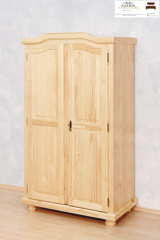 lemari pakaian lemari pakaian 2 pintu kayu sungkai2 pintu kayu sungkai