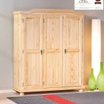 lemari pakaian minimalis 3 pintu kayu pinus