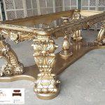 meja makan kayu mewah klasik asli jepara