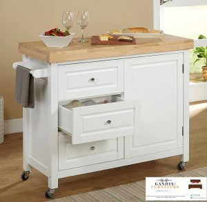 model lemari dapur minimais warna putih
