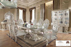 meja makan mewah modern klasik ukiran jepara