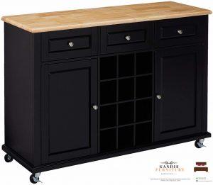 lemari dapur minimalis simpel elegan hitam