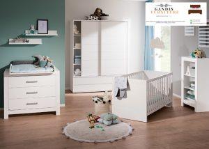 set kamar bayi kayu minimalis modern