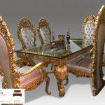 meja makan mewah 8 kursi ukiran bergaya eropa klasik
