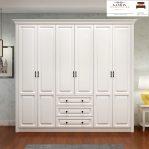 Model lemari pakaian kayu solid modern terbaru