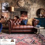 sofa minimalis mewah chesterfield 2 dudukan