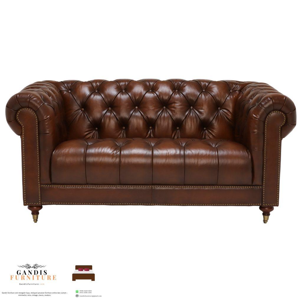 sofa minimalis mewah chesterfield