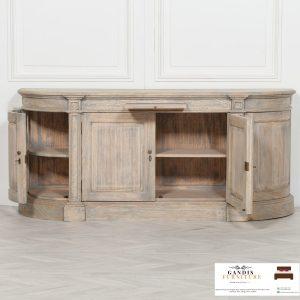 bufet kayu jati minimalis model antik