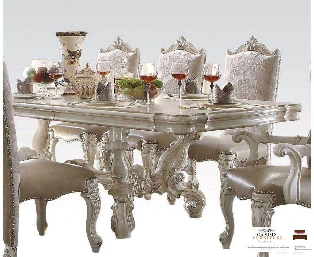 set meja makan mewah ukiran klasik