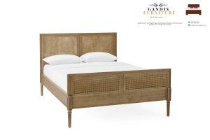 dipan minimalis rotan alami | tempat tidur rotan alami