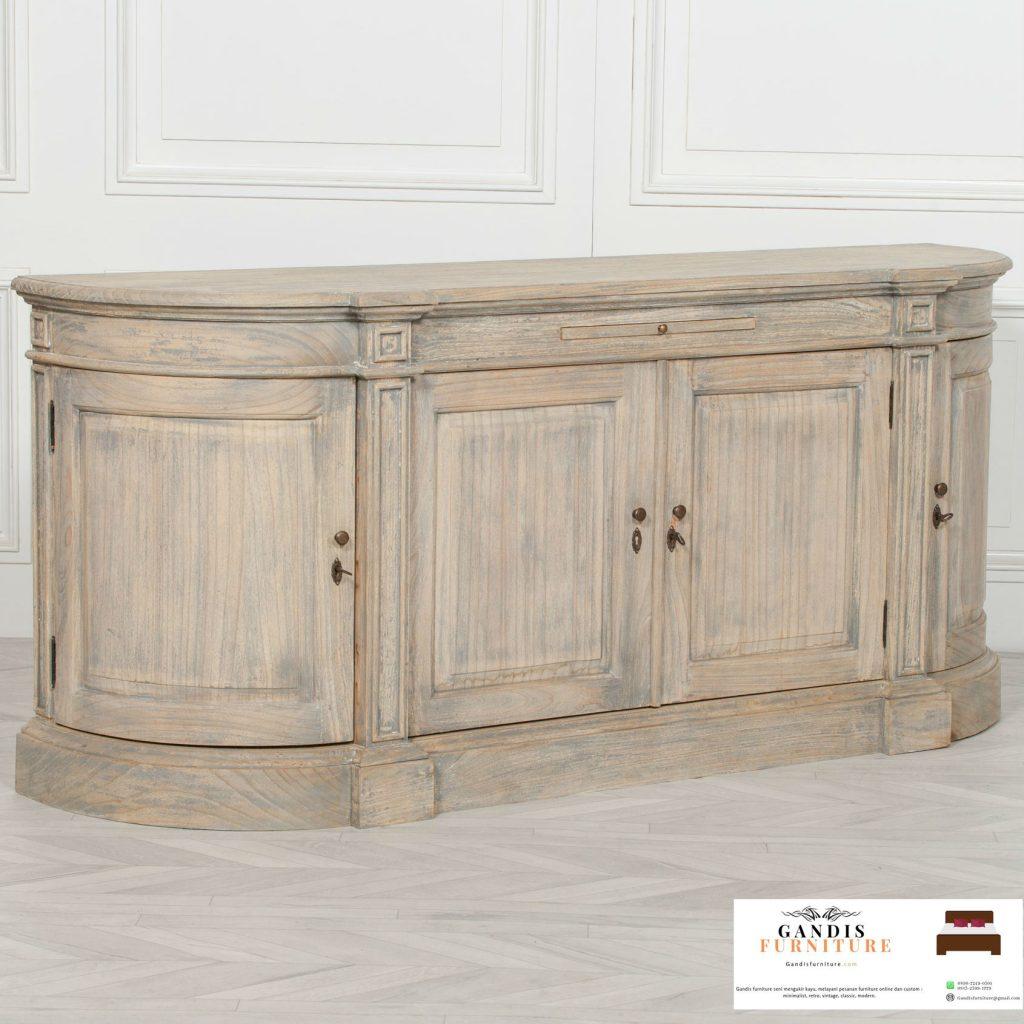 bufet kayu jati minimalis