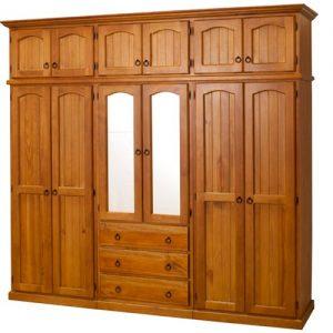 lemari pakaian minimalis kayu jati solid 4 pintu