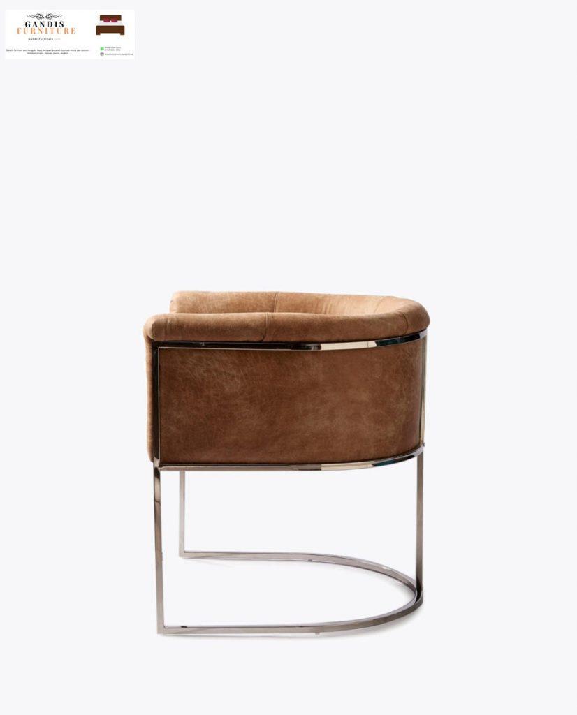 kursi makan mewah kaki stainless