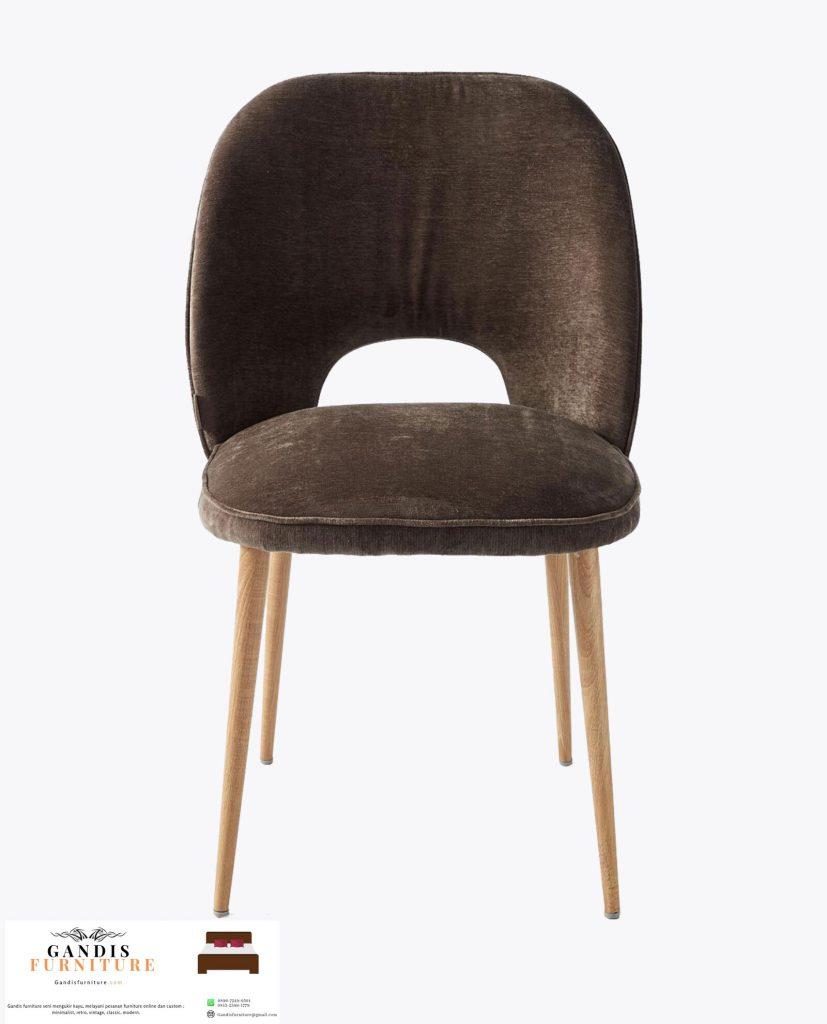kursi makan minimalis sandaran lengkung