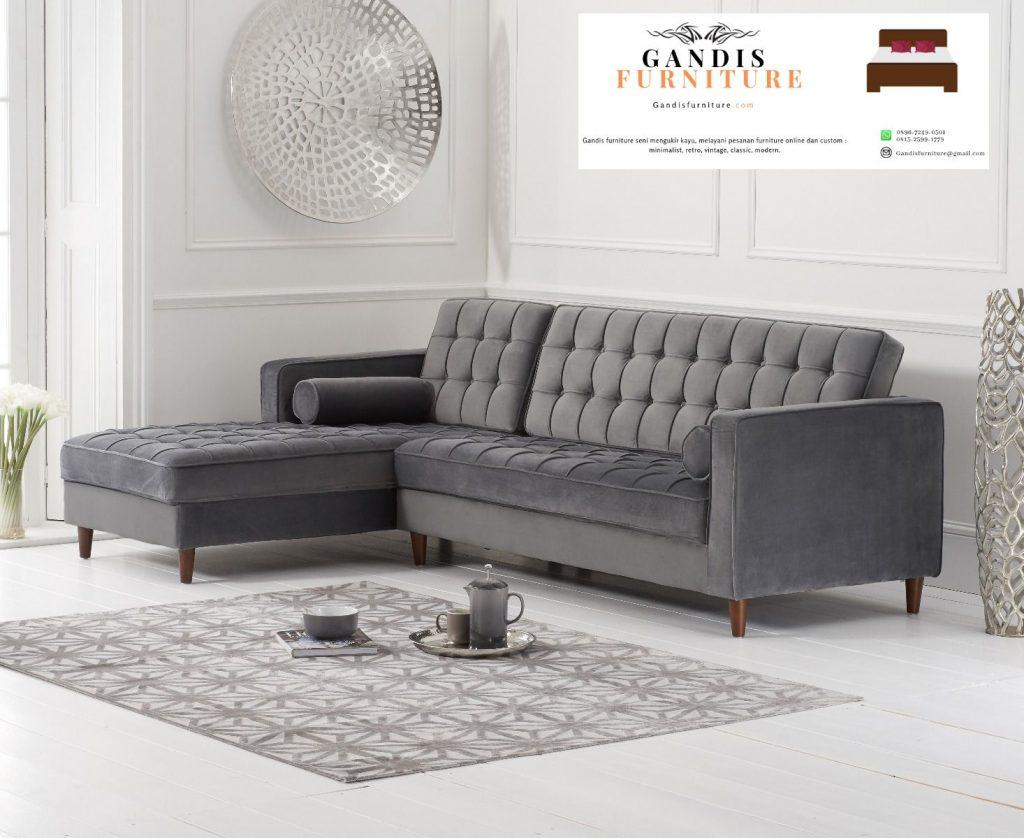 sofa L minimalis model terbaru 2020