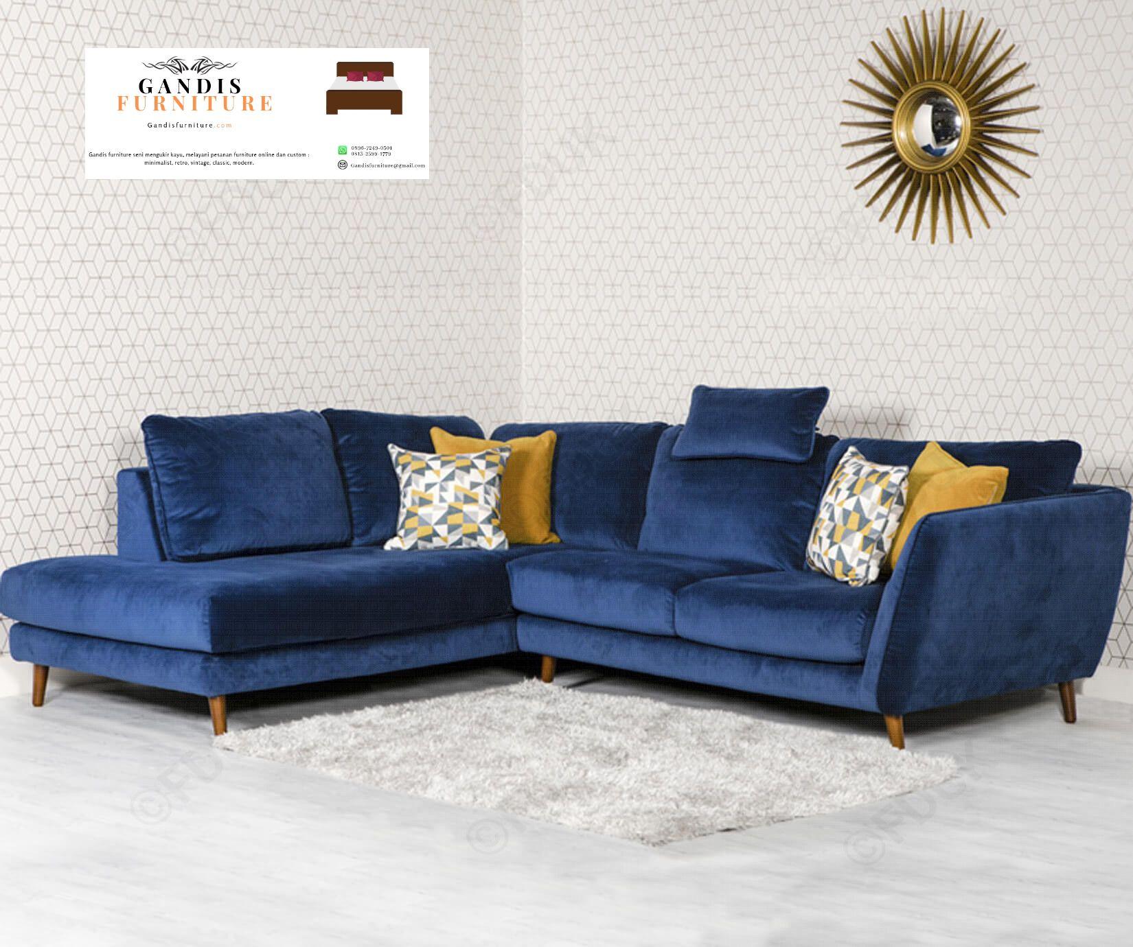 Jual sofa tamu minimalis kombinasi kayu jati