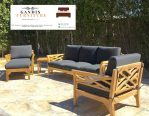 Set Kursi outdoor kayu jati minimalis