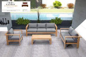Set Kursi outdoor kayu jati minimalis terbaru 2020