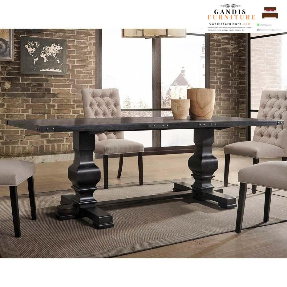 meja makan minimalis kayu mewah