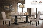 meja makan minimalis kayu mewah 8 kursi