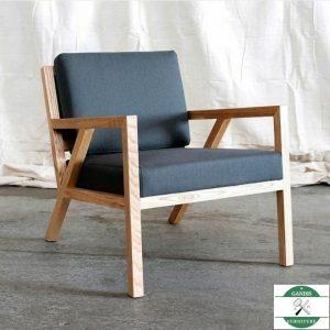 kursi tamu satu dudukan minimalis kayu jati