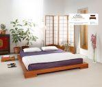 Tempat tidur kayu jati lantai minimalis