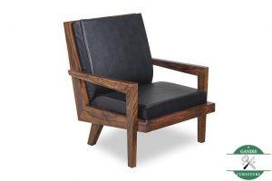 Kursi tamu kayu jati minimalis satu dudukan